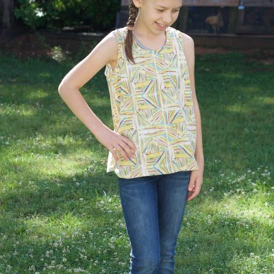 Sewing a Girls Woven Tank | Radiant Home Studio