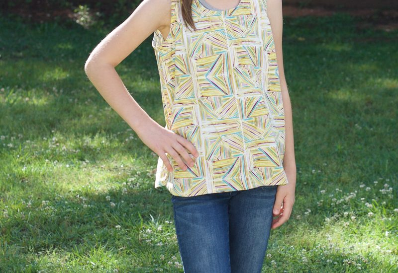 Sewing a Girls Woven Tank   Radiant Home Studio