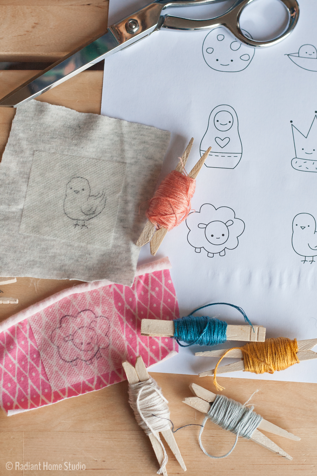 Make an Embroidered Baby Onesie as a Gift | Radiant Home Studio