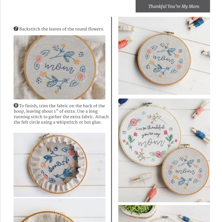 Sample page Mother's Day Embroidery | Radiant Home Studio