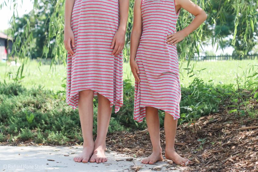 Striped Knit Dance Dresses | Handmade Girls Tank Dress | Radiant Home Studio