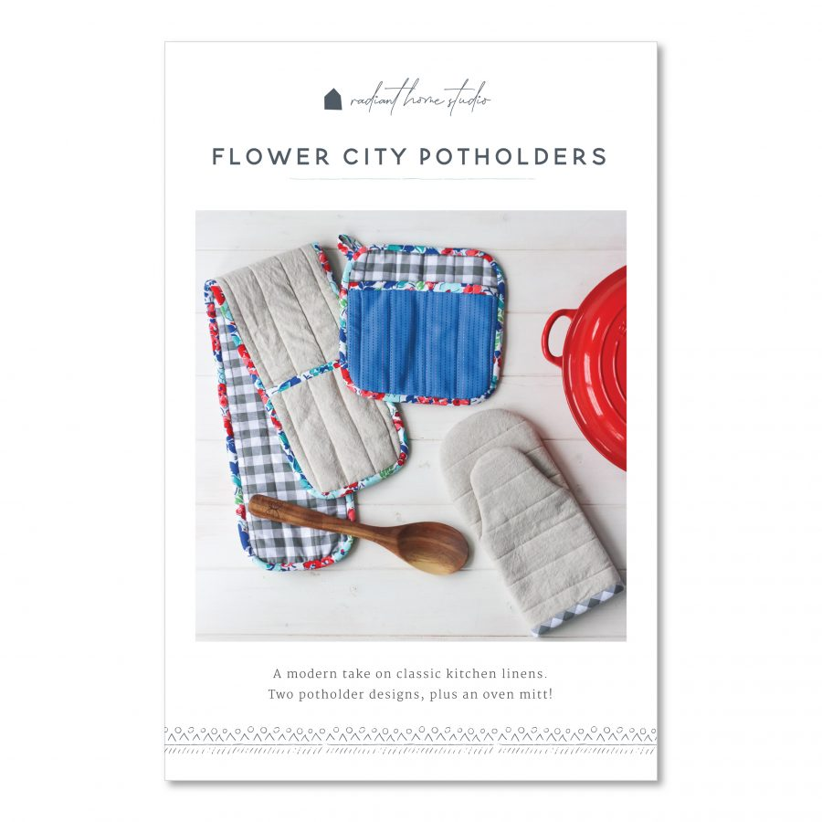 Flower City Potholders Sewing pattern | Radiant Home Studio