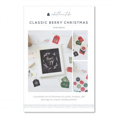 Classic Berry Christmas Printable Gift Tags & Art Prints | Radiant Home Studio