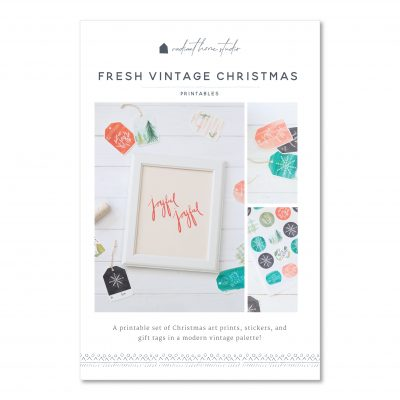 Fresh Vintage Printable Christmas Gift Tags & Art Prints | Radiant Home Studio