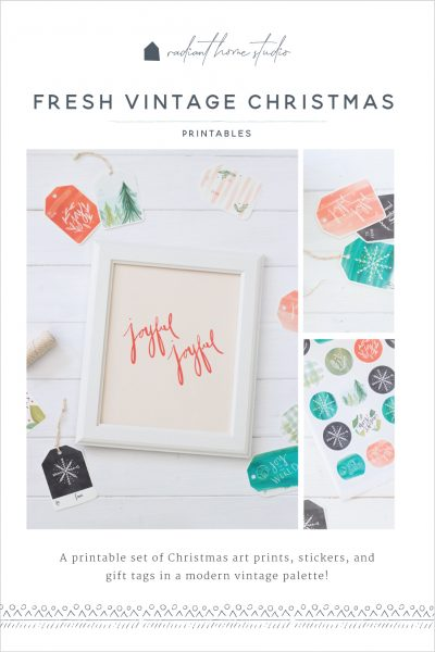Fresh Vintage Christmas Printables | Radiant Home Studio
