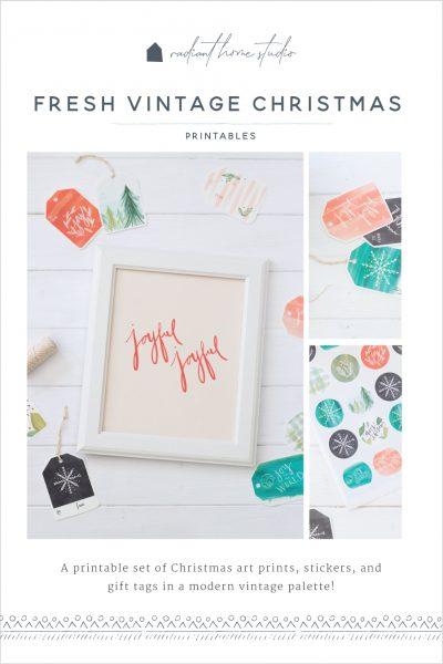 Fresh Vintage Christmas Printables | Radiant Home Studio