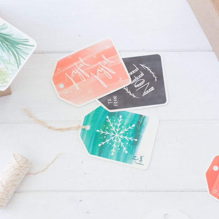 Fresh Vintage Printable Christmas Gift Tags, Stickers, & Art Prints | Radiant Home Studio
