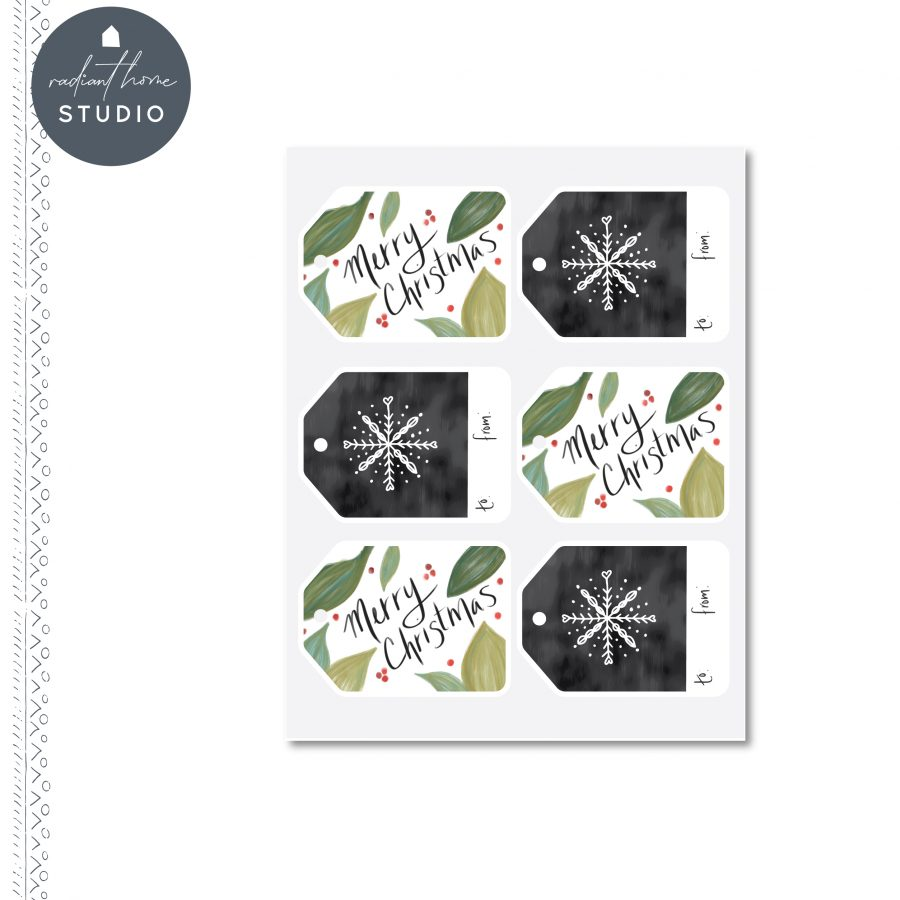 Printable Christmas Gift Tags | Radiant Home Studio