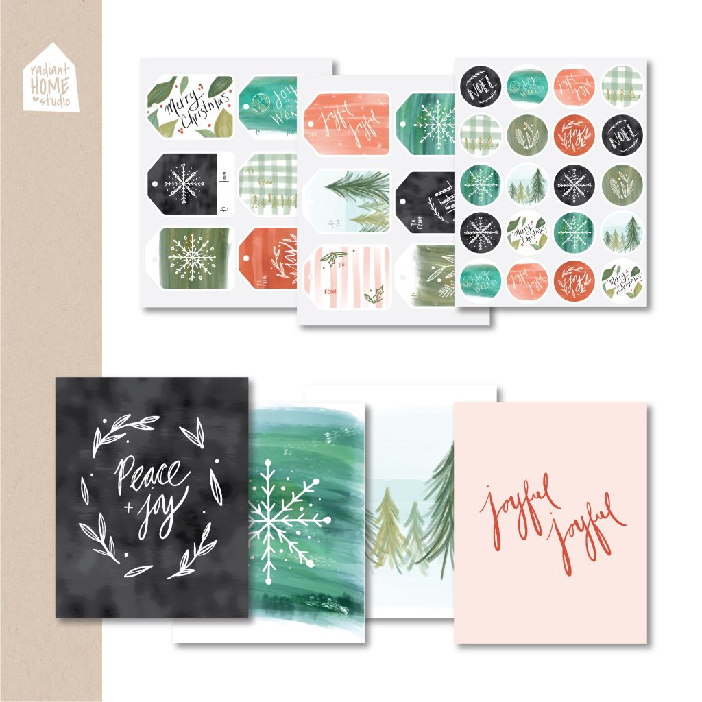 Fresh Vintage Christmas Printables | Gift Tags, Stickers, & Art Prints | Radiant Home Studio