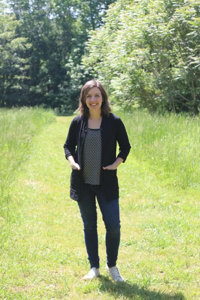 Black Fulton Sweater Blazer Review | Sewing Pattern by Alina Design | Radiant Home Studio
