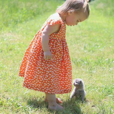 Made By Rae Geranium Dresses for Baby Girl | Lotta Jansdotter| Radiant Home Studio