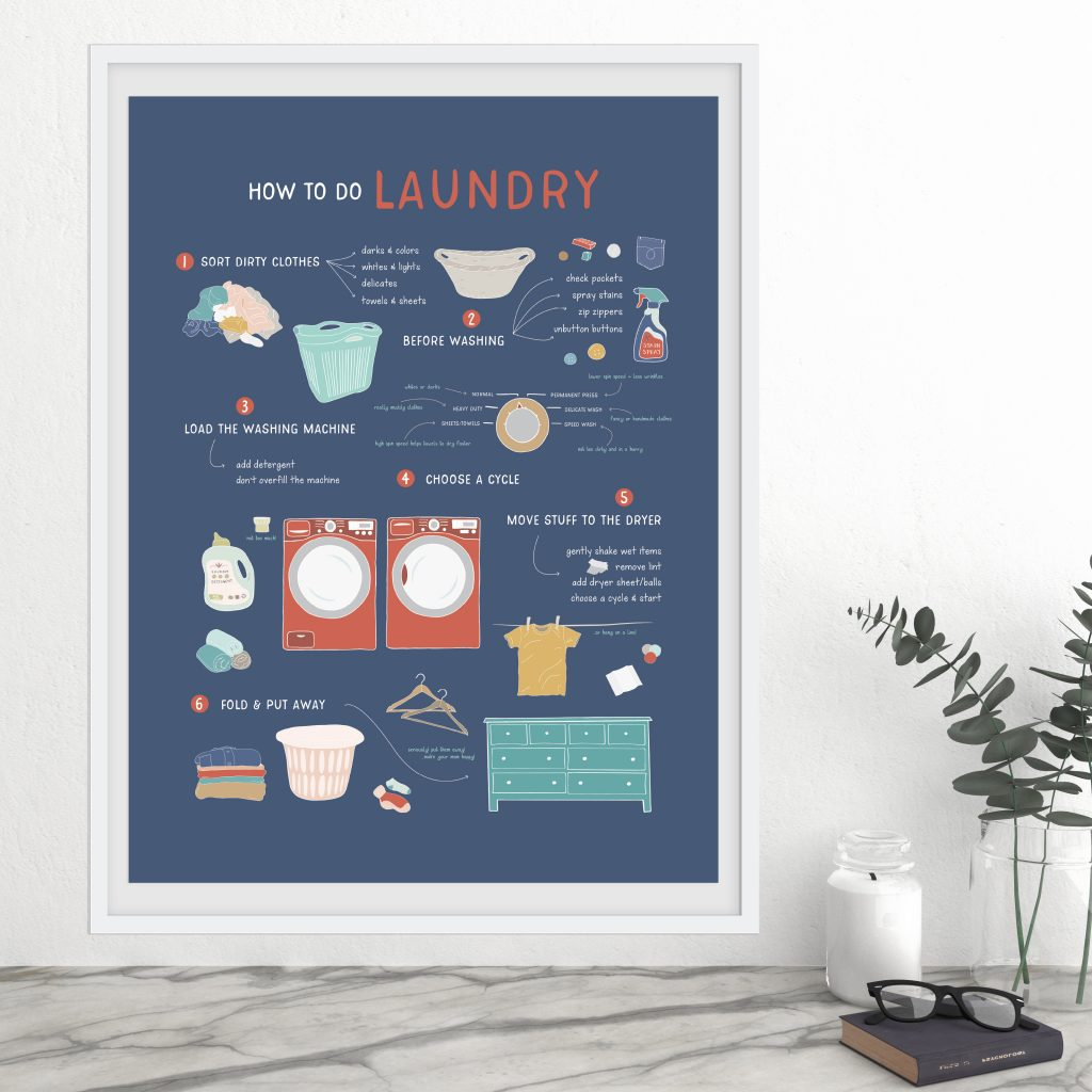 laundry poster pretty nerdy press