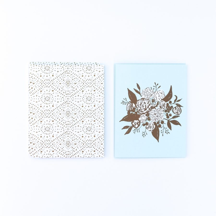 Ocean Boho Bouquet Notecards | Radiant Home Studio