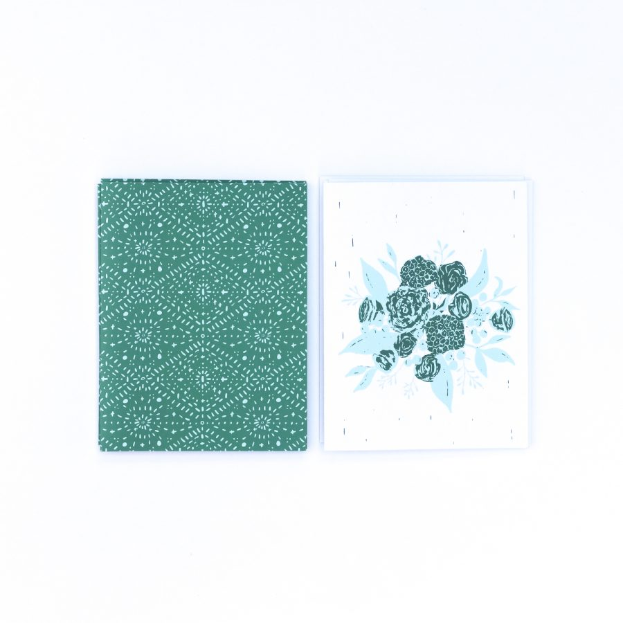 Emerald Boho Bouquet Notecards | Radiant Home Studio