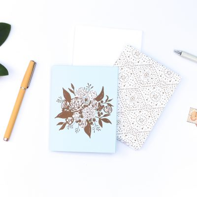 Ocean Boho Bouquet Notecards | Radiant Home Studio