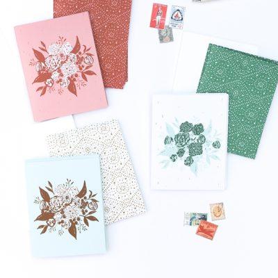 Three Boho Modern Notecards | Radiant Home Studio