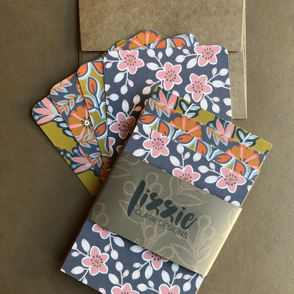 Eco-friendly flat cards by Lizzie Clark Designs | Radiant Home Studio