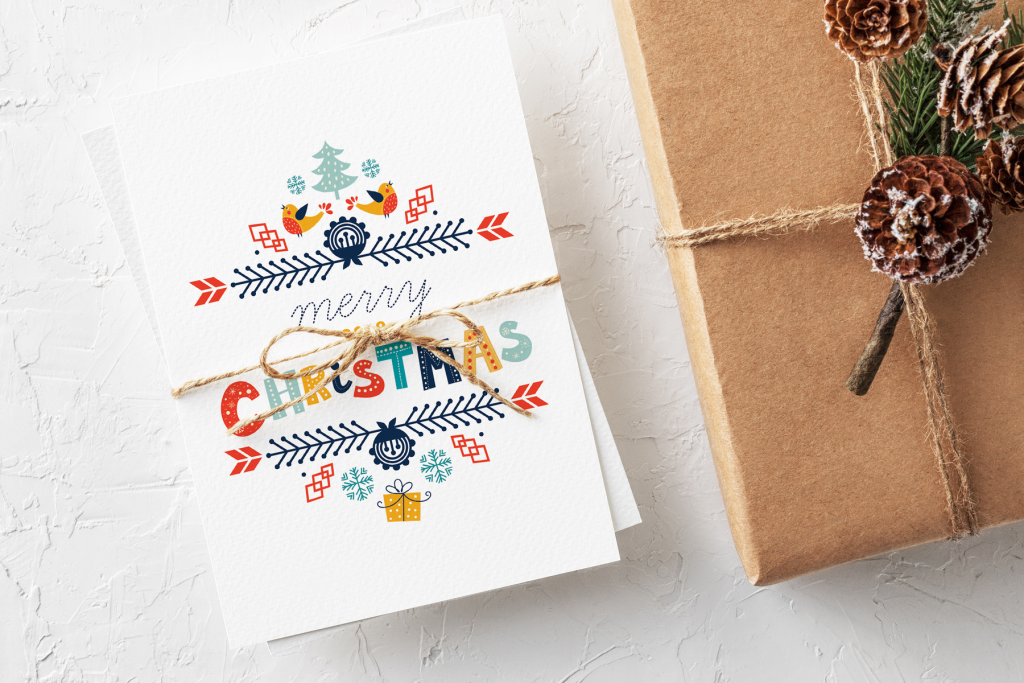Eco-friendly Christmas Notecards by Nuts & Bolts Paper | Radiant Home Studio