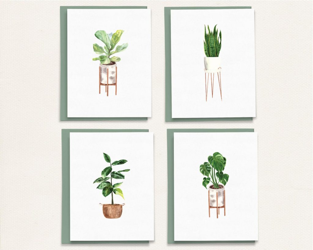 Eco-friendly Notecards by Paper Rose Print Studio | Radiant Home Studio