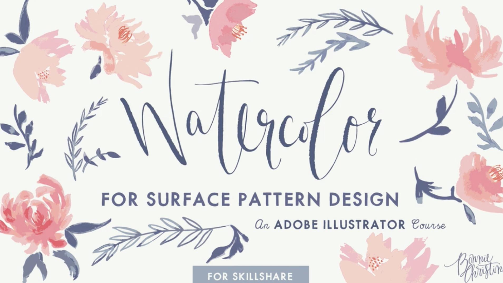 Bonnie Christine | Skillshare | Watercolor for Surface Pattern Design